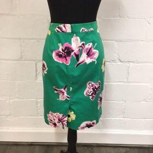 J. Crew Factory Skirts - J. Crew Factory Green Floral Pencil Skirt
